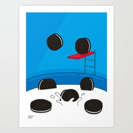 Sugar Crash No. 5: Oreo Pool Party Art Print