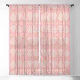 Abstract Tear Pattern - Pink Sheer Curtain