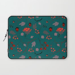 Red berry, Christmas Brier Spray Pattern Laptop Sleeve