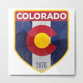 Colorado Badge Metal Print