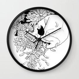 Skull #9 (Pushing Up Daisies) Wall Clock