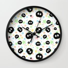 Soot Sprite with stars Wall Clock