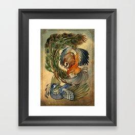 Cockfight Framed Art Print
