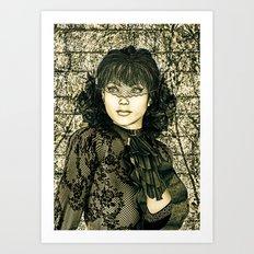 Vintage Lady  Art Print