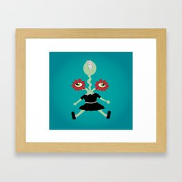 Flower Eyes Framed Art Print
