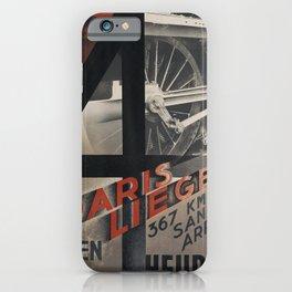 old placard NORD Paris Liege iPhone Case