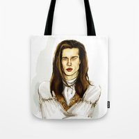 louis Tote Bags featuring Louis by Myrtle Quillamor