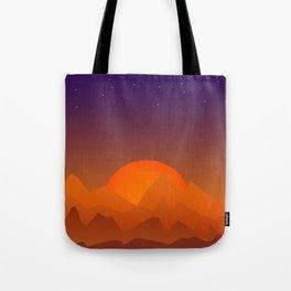Slumbering Hills, Southwestern Landscape Art Tote Bag