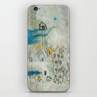cityscape iPhone & iPod Skins featuring Cityscape by asarakai