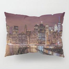 NEW YORK CITY Nightly Impressions | Panoramic Pillow Sham