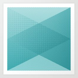COOL HALFTONE Art Print