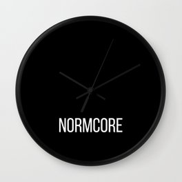 NORMCORE black Wall Clock