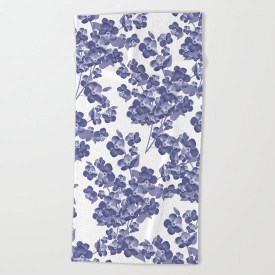 Floral pattern 14 Beach Towel