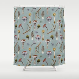 Mushroom Forest Party Shower Curtain