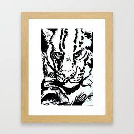 Ships cat  Framed Art Print