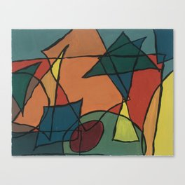Cubist Martini Canvas Print