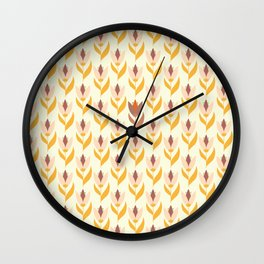 Field of tulips light background Wall Clock