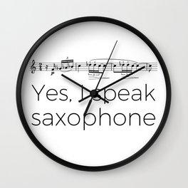 I speak saxophone Wall Clock