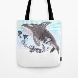Killer Whale Ishmael Tote Bag