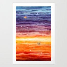 Journey to Nightfall Art Print