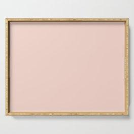 Pale Pink Satin Solid Matte Colour Blocks Pink Desert Sand Serving Tray