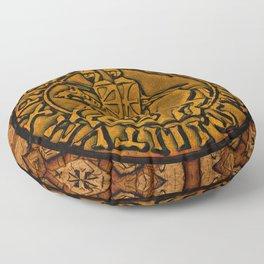 Medieval Seal of the Knights Templar Floor Pillow
