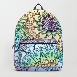Purple Butterfly Mandala Backpack