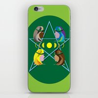 goddess iPhone & iPod Skins featuring Goddess by Watch House Design