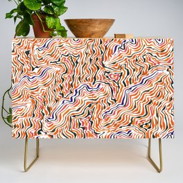 red topography Credenza