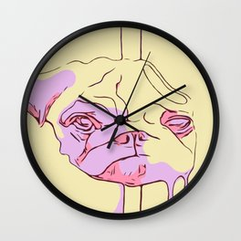 Pugsicle Pink Edition Wall Clock
