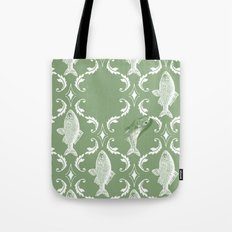 In which a fish frees itself (green option) Tote Bag