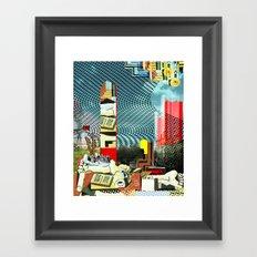 Floating friday Framed Art Print