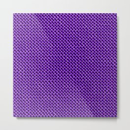 Purple Wire Mesh Pattern Metal Print