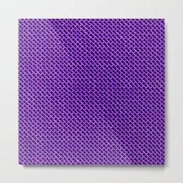 Purple Wire Mesh Pattern Metal Print