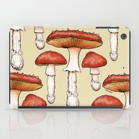 mushrooms iPad Cases featuring Mushrooms by CHAR ODEN