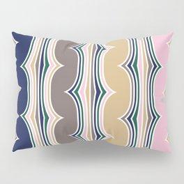 Geometric, Abstract Stripes, Colorful, Retro Art Pillow Sham