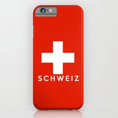 Switzerland country flag Schweiz name text Slim Case iPhone 6s