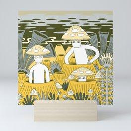 Mushroom Men Mini Art Print