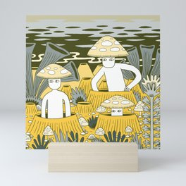 Mushroom Men Mini Art Print
