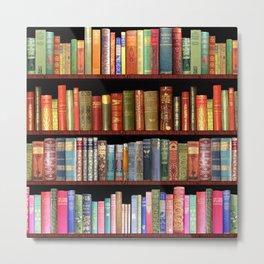 Book Lovers Gifts, Antique bookshelf Metal Print