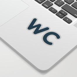WC Sign Sticker Sticker