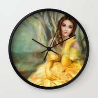 belle Wall Clocks featuring Belle by MartaDeWinter
