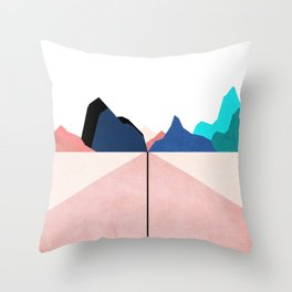 ON THE RIGHT TRACK - PASTEL Throw Pillow