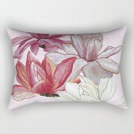 Blooming in pink Rectangular Pillow