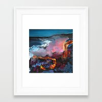 hawaii Framed Art Prints featuring Hawaii by Desiree Shumovic