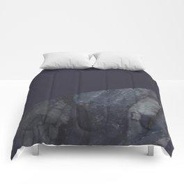 Marble Geometric Navy Blue Indigo Comforters