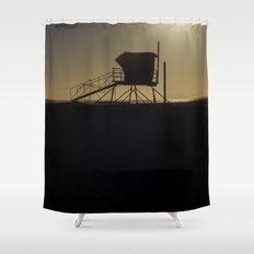 Lifeguard Tower Shower Curtain