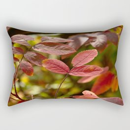 Leaves in Red Rectangular Pillow