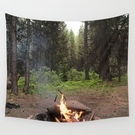 4e603afc09 Backpacking Camp Fire Wall Tapestry