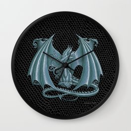 """Dragon Letter M, from """"Dracoserific"""", a font full of Dragons Wall Clock"""